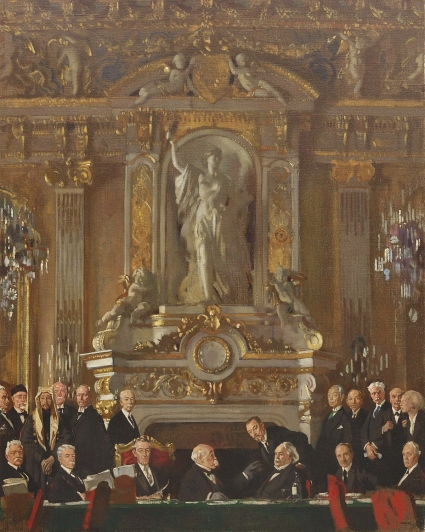 A Peace Conference at the Quai d'Orsay by William Orpen (1919)