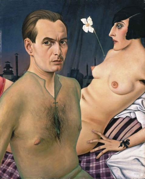 Self-portrait by Christian Schad (1927)
