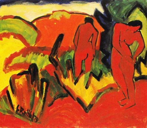 Summer by Karl Schmidt-Rottluff (1911)