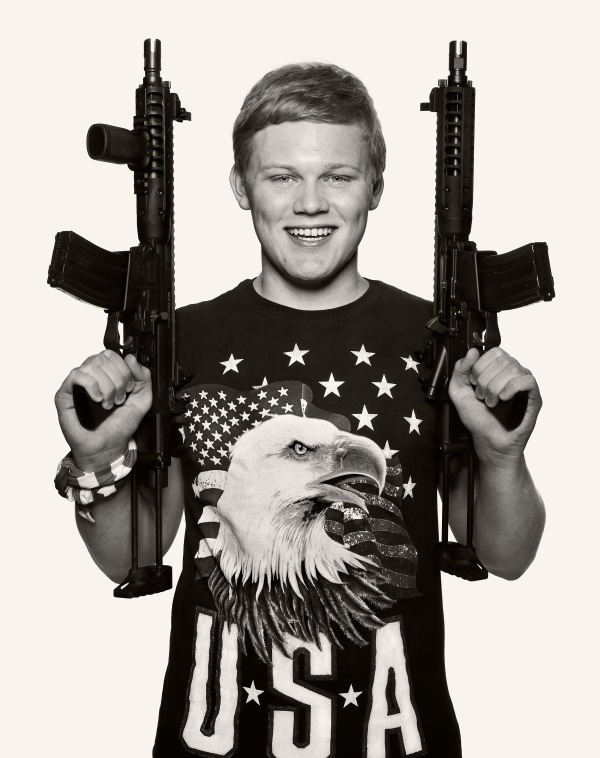"George S. Texas 2016 from the series ""Age of Innocence"" Children and guns in the USA by Laurent Elie Badessi 2016 © Laurent Elie Badessi"