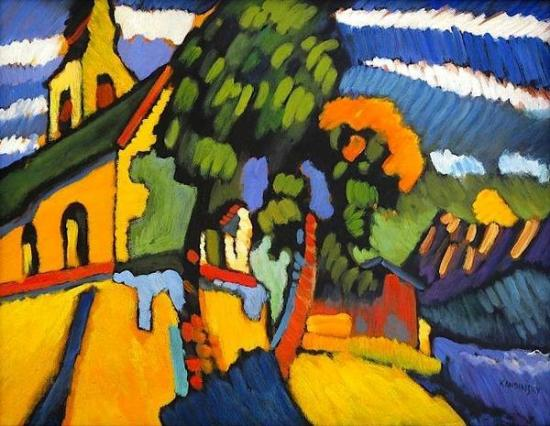 The Village Church (1908) by Wassily Kandinsky