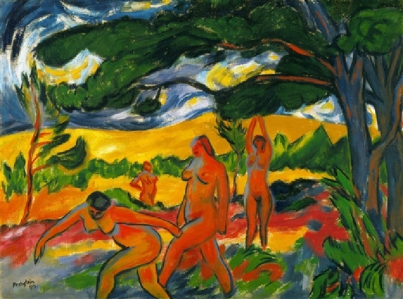 Under the Trees by Max Pechstein (1911)