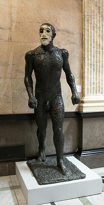 Walking man (Riaces I) by Dame Elisabeth Frink. Photo by Lisa Whiting