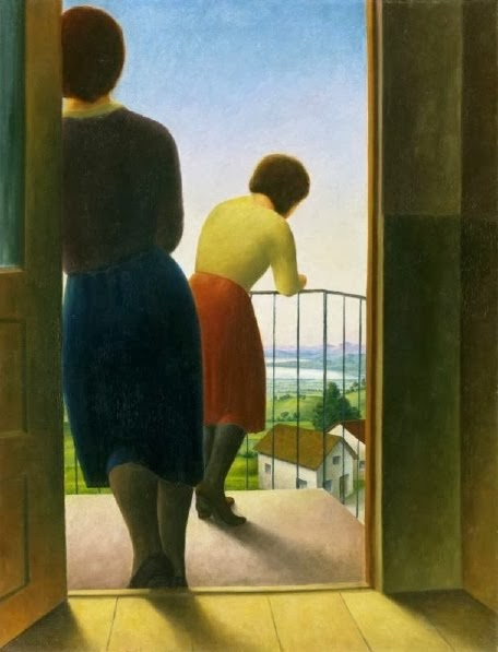 On the Balcony by Georg Schrimpf (1929)
