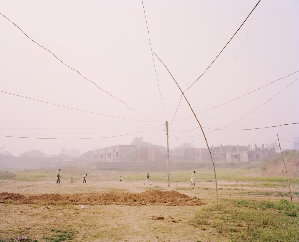 Cricket Match, Chitrakoot, Uttar Pradesh, India (2013) from the series A Myth of Two Souls by Vasantha Yogananth