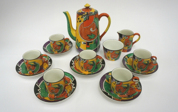 Royal Winton, Grimwades Jazz Coffee Set (1930s) Ceramic Private Collection © Two Temple Place