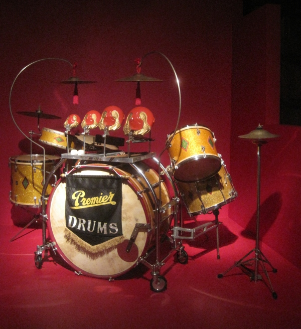 Premier Swingster 'Full Dress' Console drum kit (1936) courtesy of Sticky Wicket's Classic drum Collection