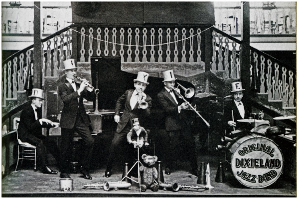 The Original Dixieland Jazz Band at The Palais de Dance, Hammersmith 1919. Photograph, Max Jones Archive © Max Jones Archive