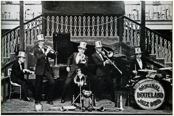 The Original Dixieland Jazz Band at The Palais de Dance, Hammersmith 1919. Photograph, Max Jones Archive © Max Jones Archive