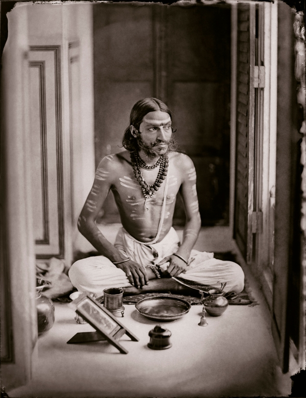Self-portrait as a Shiva bhakt (c.1870) by Maharaja Sawai Man Singh II © Trustees, Maharaja Sawai Man Singh II Museum, City Palace, Jaipur