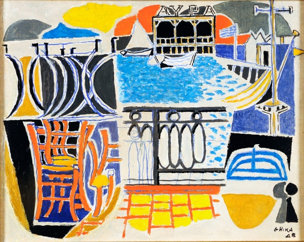 Chairs and tables by the sea by Nikos Hadjikyriakos-Ghika (1948) © Benaki Museum 2018
