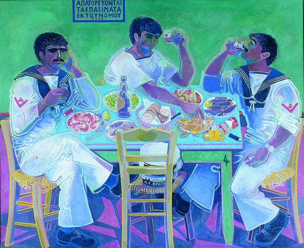 Still Life with Three Sailors by John Craxton (1980-85) Private Collection, UK © 2018 Craxton Estate/DACS