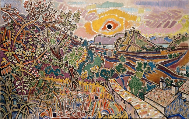 The Black Sun by Nikos Hadjikyriakos-Ghika (1947) Courtesy of Rosie Alison © Benaki Museum 2018