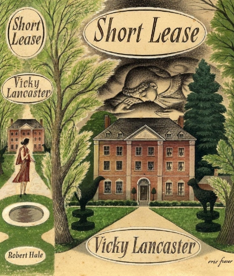 Cover design for Vicky Lancaster's novel Short Lease, by Eric Fraser (1950)