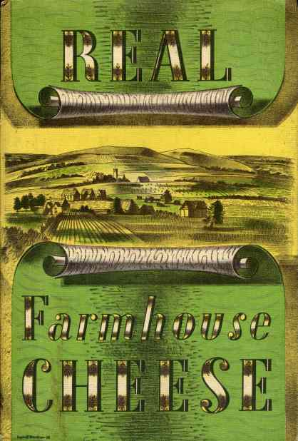 Real Farmhouse Cheese poster by Barnett Freedman