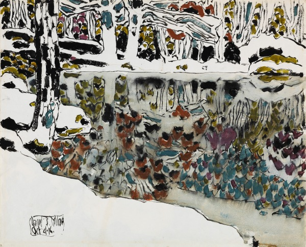 Bishop's Pond (Reflections) by David Milne (1916) National Gallery of Canada, Ottawa © The Estate of David Milne