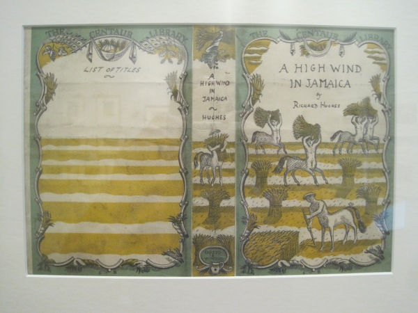 Edward Bawden's cover art for A High Wind in Jamaica by Richard Hughes