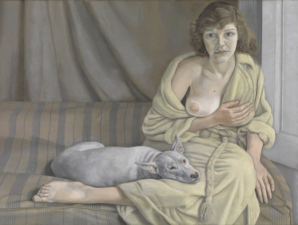 Girl with a White Dog by Lucian Freud (1950-1) © Tate