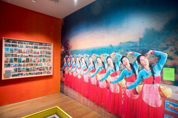 Installation view of Made in North Korea: Everyday Graphics from the DPRK at the House of Illustration