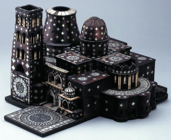 Model of the Church of the Holy Sepulchre Bethlehem, Palestine, 1600–1700 The Church of the Holy Sepulchre is one of the holiest places of Christianity and attracts many pilgrims. Souvenir models of the church are bought and taken all over the world. © The Trustees of the British Museum