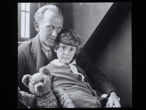 Photograph of A. A. Milne and Christopher Robin, ca. 1925-1926 (c) National Portrait Gallery