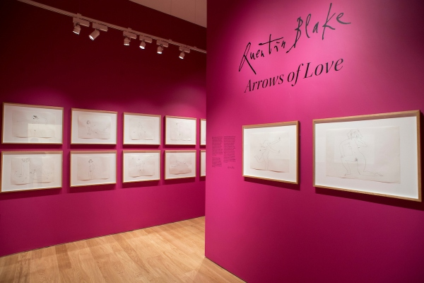 Installation view of 'Arrows of Love' by Quentin Blake at the House of Illustration. Photo by Paul Grover