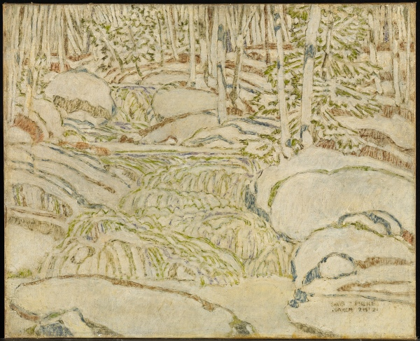 White, the Waterfall by David Milne (1921) National Gallery of Canada, Ottawa © The Estate of David Milne