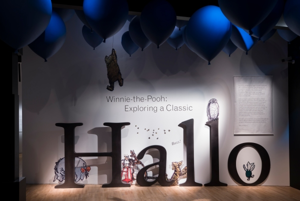 Installation view of Winnie-the-Pooh Exploring a Classic © Victoria and Albert Museum, London