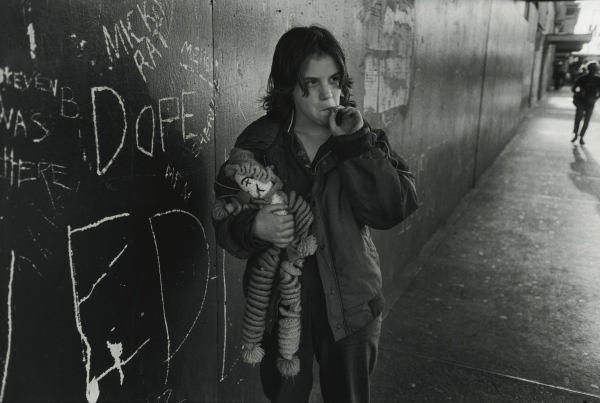 Lillie with her rag doll. Seattle, Washington from the series Streetwise, 1983 by Mary Ellen Mark © Mary Ellen Mark/ Courtesy Howard Greenberg Gallery New York
