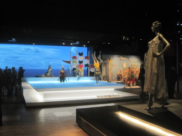 Installation view of Ocean Liners: Speed and Style at the Victoria and Albert Museum