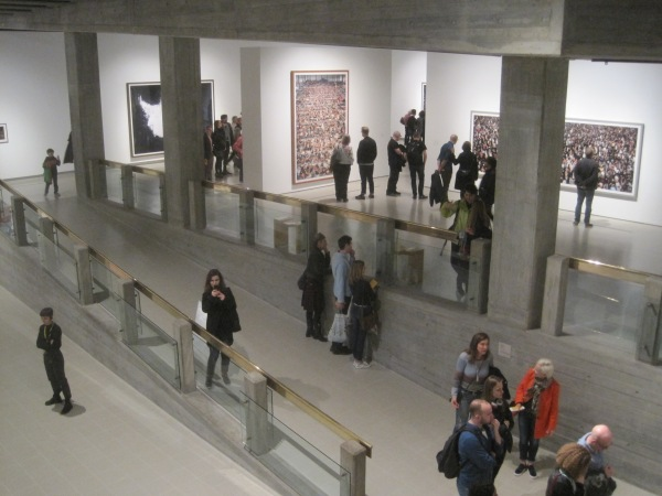 Installation view of Andreas Gursky at the Hayward Gallery