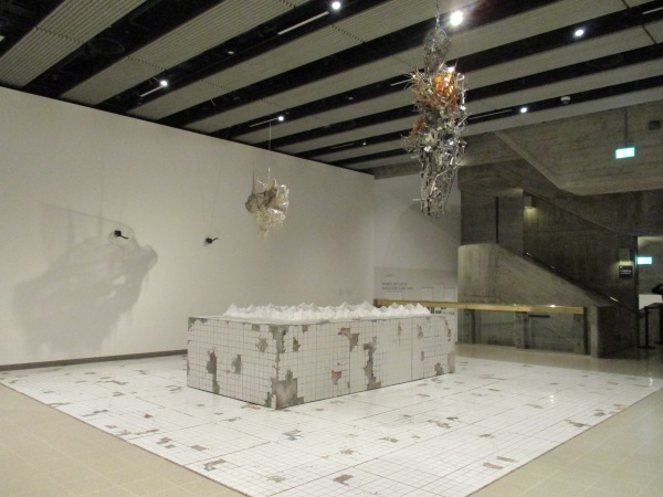 Installation view of Lee Bul at Hayward Gallery showing Heaven and Hell (1987) Photo by the author