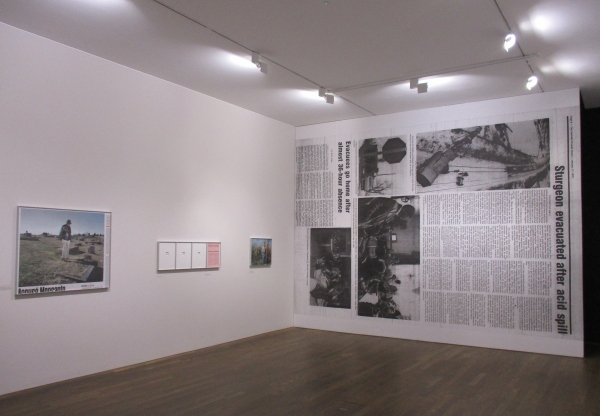 Installation view of the Mathieu Asselin room at the Deutsche Börse Photography Foundation Prize 2018 exhibition at the Photographers' Gallery