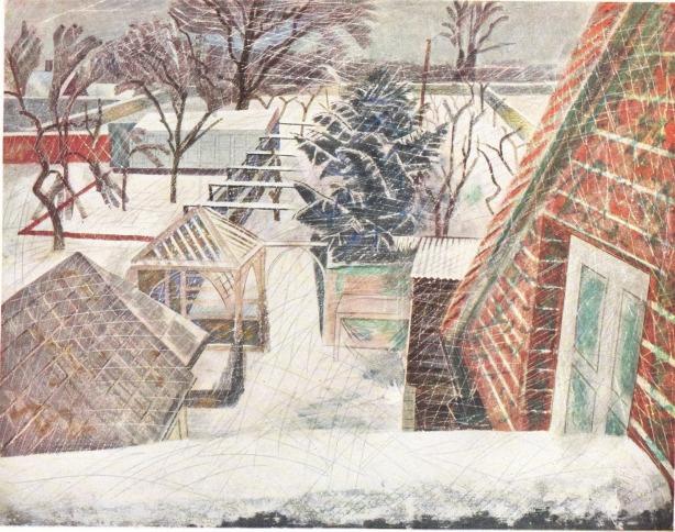 February 2pm, 1936 by Edward Bawden © Estate of Edward Bawden