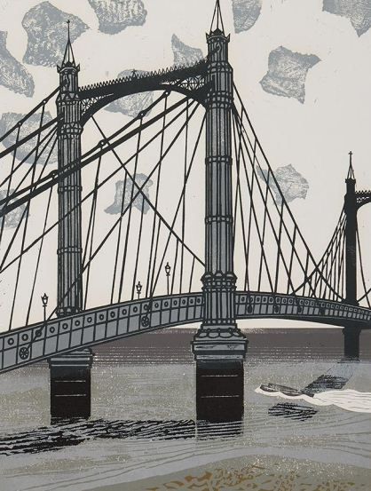 Albert Bridge (1966) by Edward Bawden. Trustees of the Cecil Higgins Art Gallery © Estate of Edward Bawden