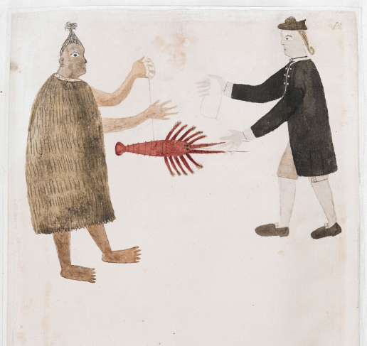 Banks and a Maori by Tupaia © British Library Board