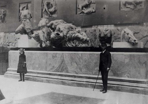 The Parthenon gallery in the British Museum, about 1890. Photograph. © The Trustees of the British Museum