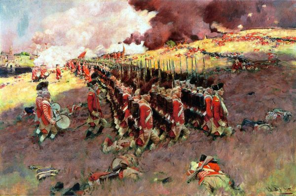 The Battle of Bunker Hill, June 17, 1775 by Howard Pyle (1897)