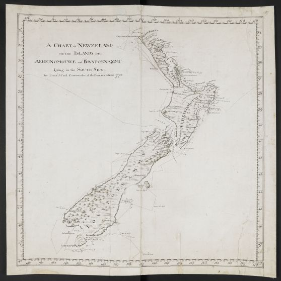 Cook's Chart of New Zealand © British Library Board