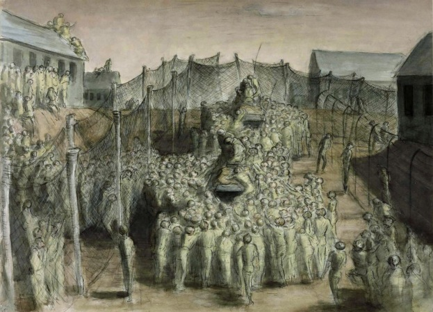 Scout Cars of a Regiment of Hussars Liberating a Stalag by Edward Ardizzone (1945)