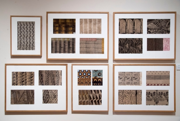 Patterns and designs by Enid Marx at the House of Illustration. Photo by Paul Grover