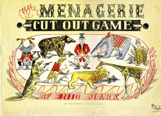 Envelope for Menagerie Cut Out Game, Royle Publications (1947) by by Enid Marx. Courtesy of Manchester Metropolitan University Special Collections
