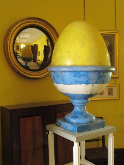 One of the eggcups from the TV am building by Terry Farrell, photo by the author