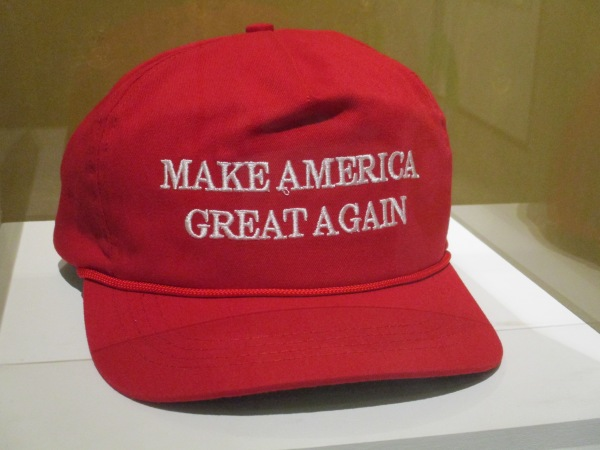 Donald Trump campaign Make America Great Again baseball cap. Photo by the author