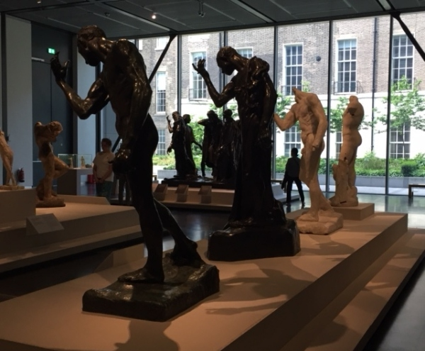 Installation view of Rodin and the art of ancient Greece at the British Museum