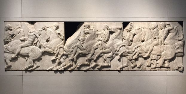 Cavalcade from the north frieze of the Parthenon, by Phidias (around 440 BC)