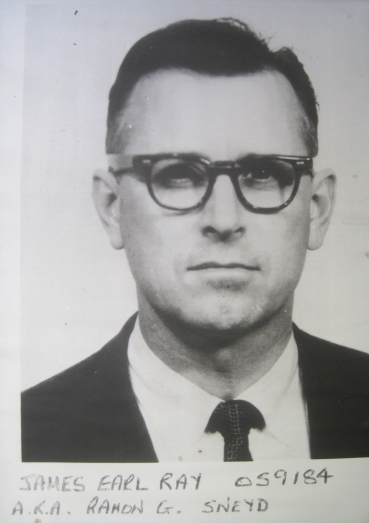 Mugshot of James Earl Ray, on remand in Wandsworth prison