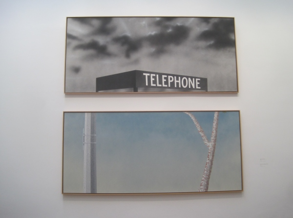 Blue Collar Telephone (1992) and Site of a Former Telephone Booth (2005) by Ed Ruscha