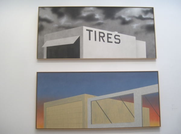 Blue Collar Tires (1992) and Expansion of the Old Tires Building (2005) by Ed Ruscha