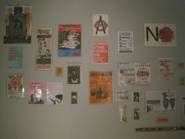 Wall of left wing posters